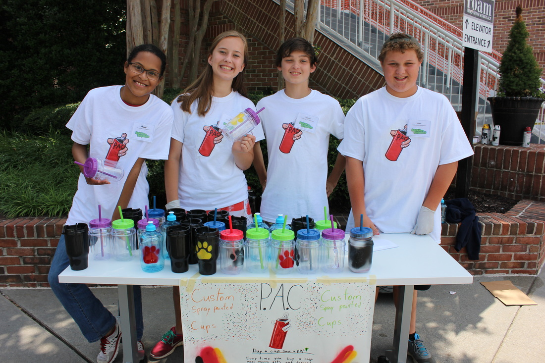 PAC - selling custom spray painted reusable cups
