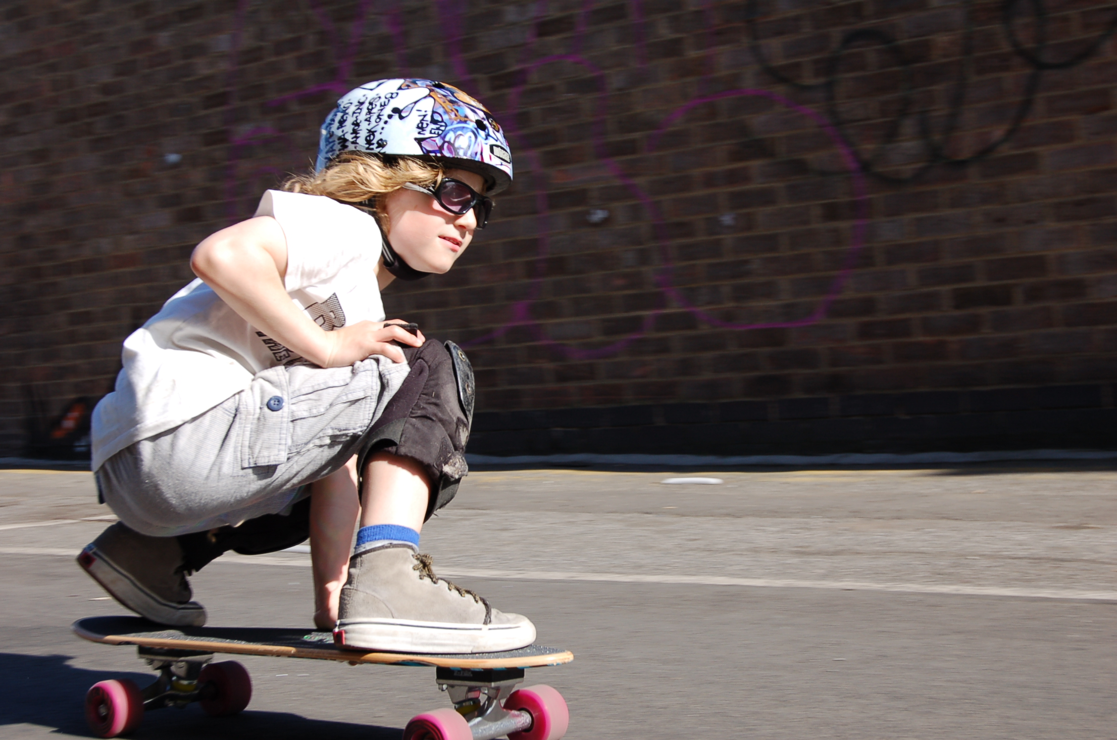 Kid skateboarding- Street Series.Jpeg