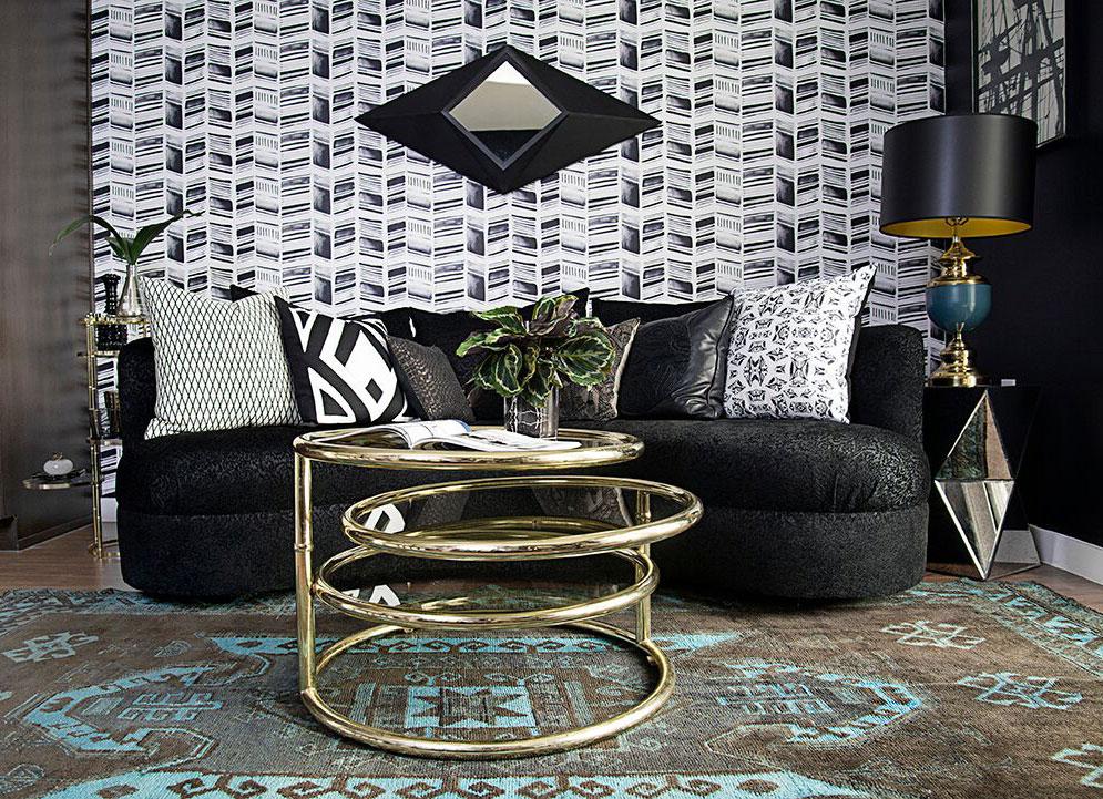 HERRINGBONE PRINT IN CUSTOM GRAY Designer: Stone Textile | Photo: Alyssa Rosenheck