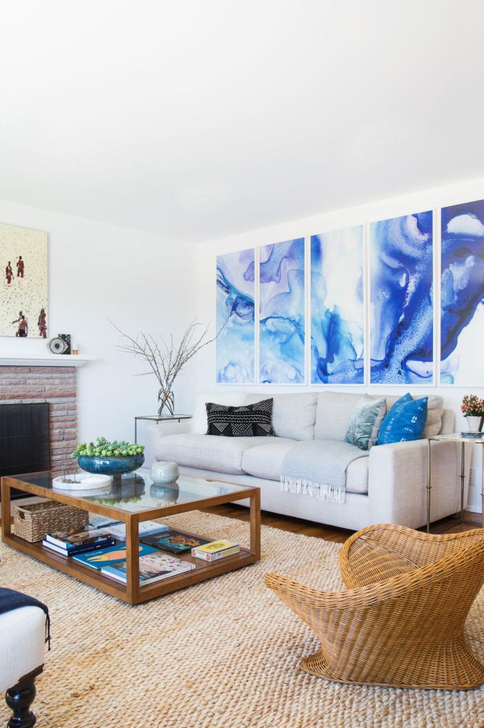 PURPLE & BLUE DANCE Designer: Orlando Soria for Homepolish