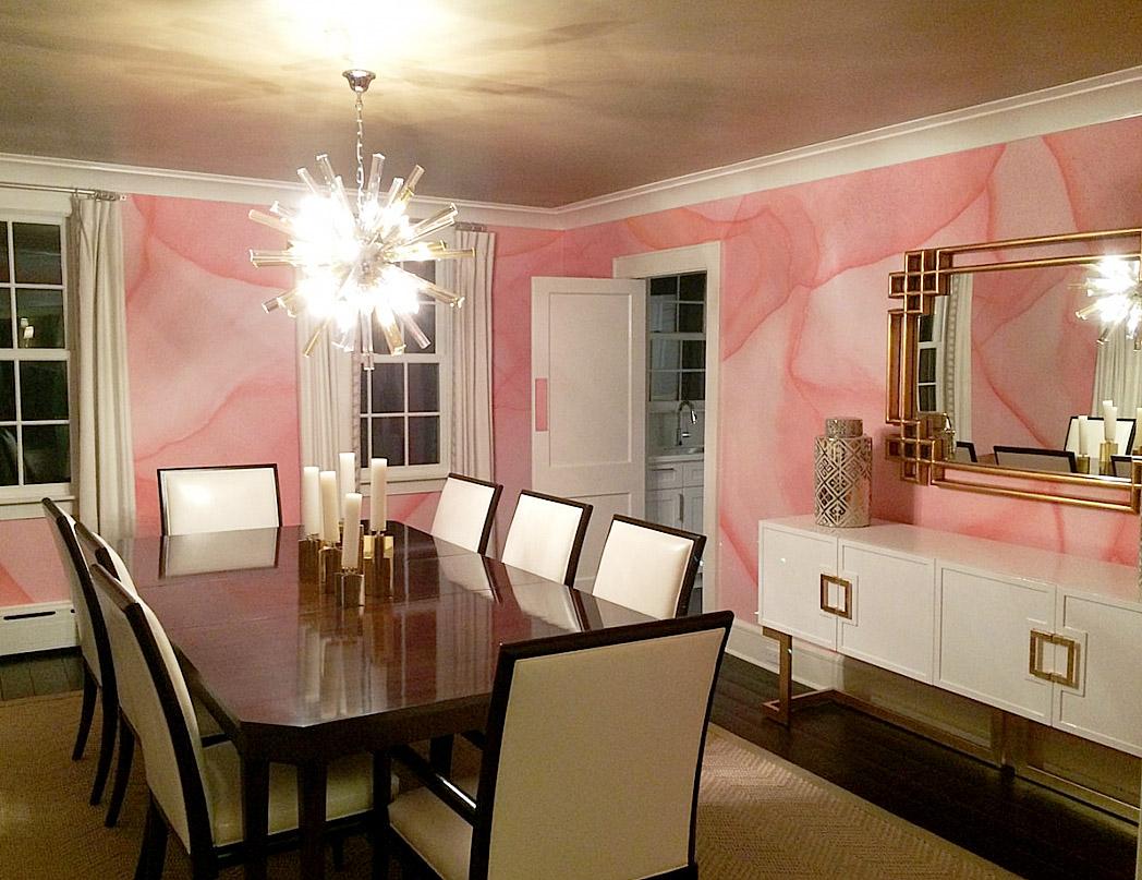 PEACH PASSAL (Custom Color) Designer: Carrie Parker Interiors