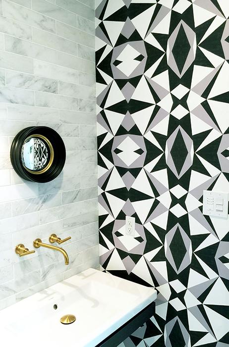 STONE TEXTILE MOSAIC IN B&W Designer: Stone Textile Studio