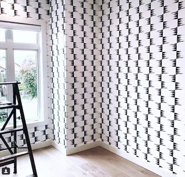STONE TEXTILE FRINGE CHECK IN BLACK ON WHITE Designer: Stone Textile Studio