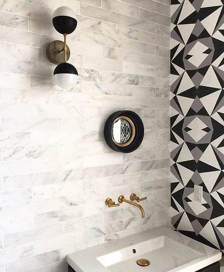 MOSAIC PRINT IN BLACK & WHITE Designer: Stone Textile | Photo: Alyssa Rosenheck