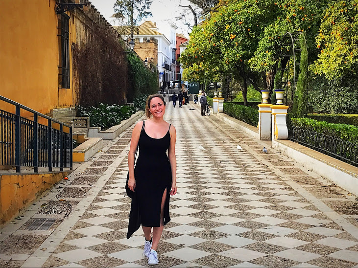 Me in Seville, Spain- everyone else was wearing coats but for me, this is warm! :)