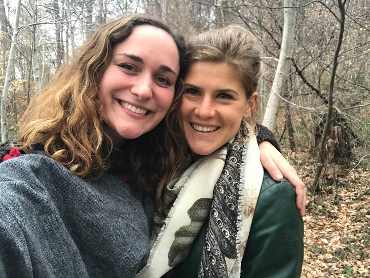Carmen & I on hike- post seeing a fox!