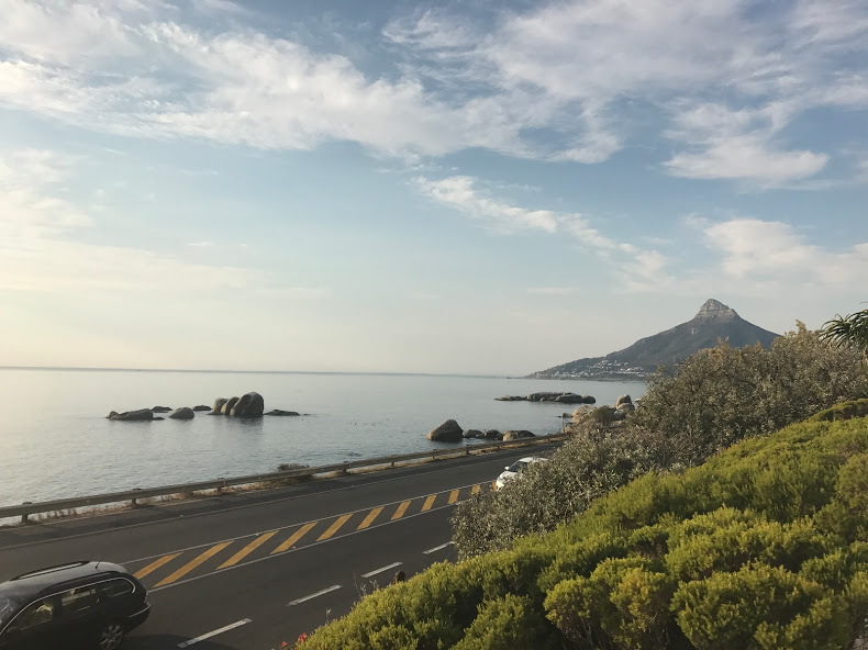 Getting out of my uber in Camps Bay!