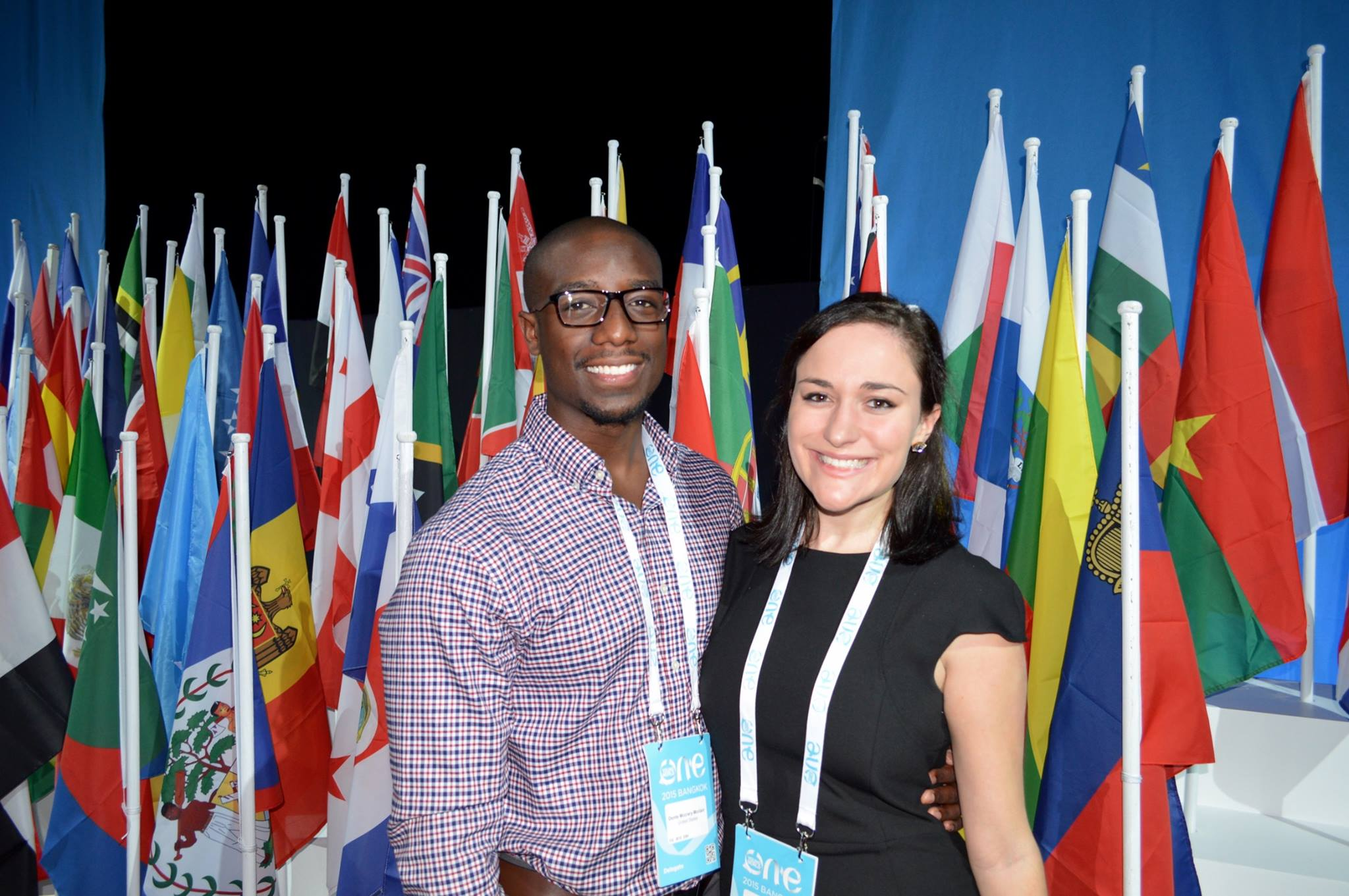 My friend Donte and I at One Young World Bangkok 2015