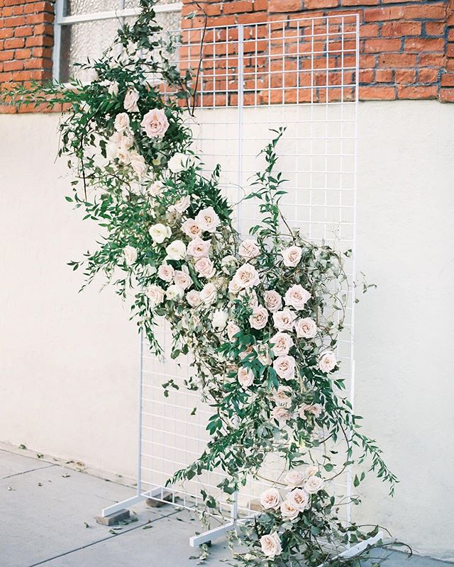The prettiest #weddingbackdrop we ever did see😍😍 Thinking back on our collaboration with @organicflora for #oncegownevent has us like 😁😍, they do amazing work! If you are a #sandiegobride looking for a florist, head over to their page to check them out!