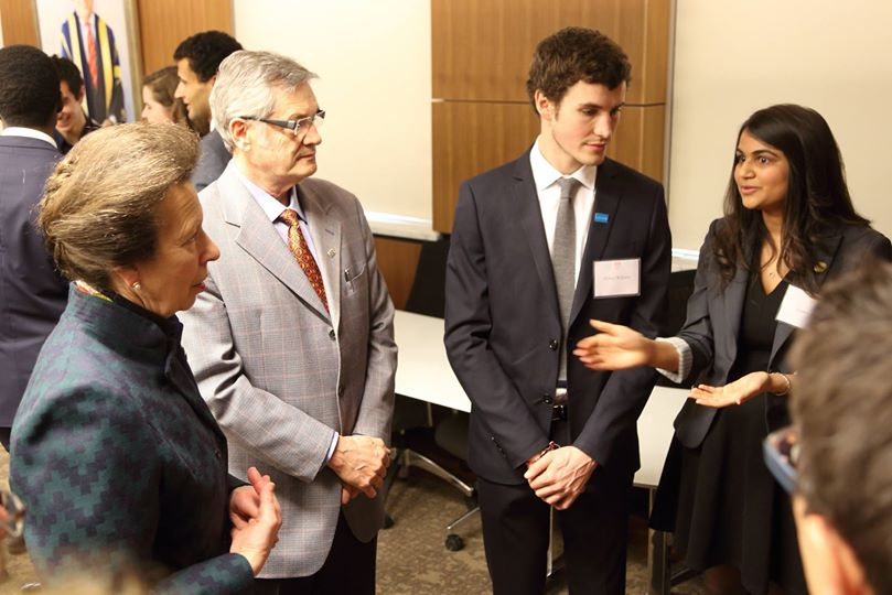 Discussion on social business with Princess Anne