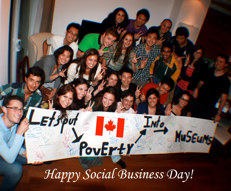 One of many 'Meet and Mingles' around the world on Social Business Day