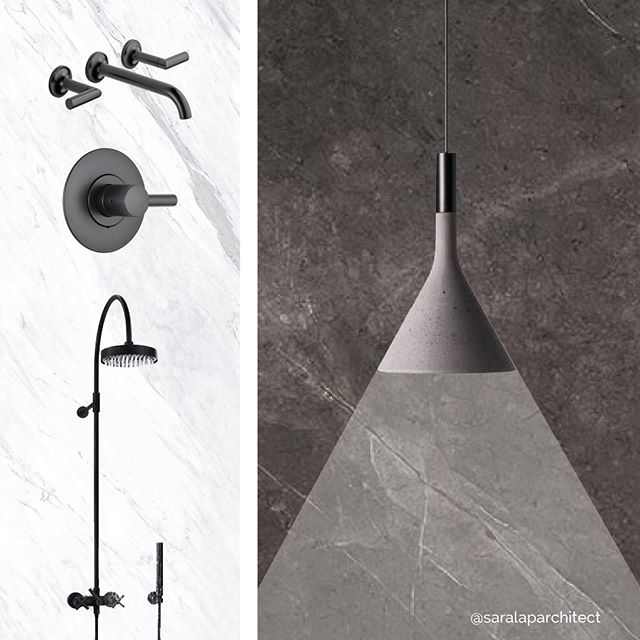 in the studio this week i'm working on a black + white themed reno in the upper west side -- bathroom design board shown, featuring: @brizofaucet by @jasonwu, black matte fixtures + @porcelanosa_grupo large format XLIGHT @urbatek_porcelanosa + @foscarinilamps #concrete mini pendant⠀ .⠀ .⠀ .⠀ .⠀ .⠀ .⠀ .⠀ #ontheboards #nyc #design #architecture #interiors #designboard #blackandwhite #renovation #bathroom #bathroomreno #upperwestside #manhattan #architect #nycarchitect #modern #moderndesign #porcelain #stone #tile #matte #black #interiordesign #interiorarchitecture
