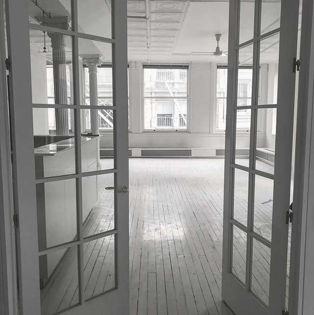 Got to check out this Soho loft getting ready to hit the market #blankslate