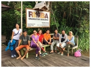 Our hotel: TRimba Ecolodge, Sekonyer River, Central Borneo