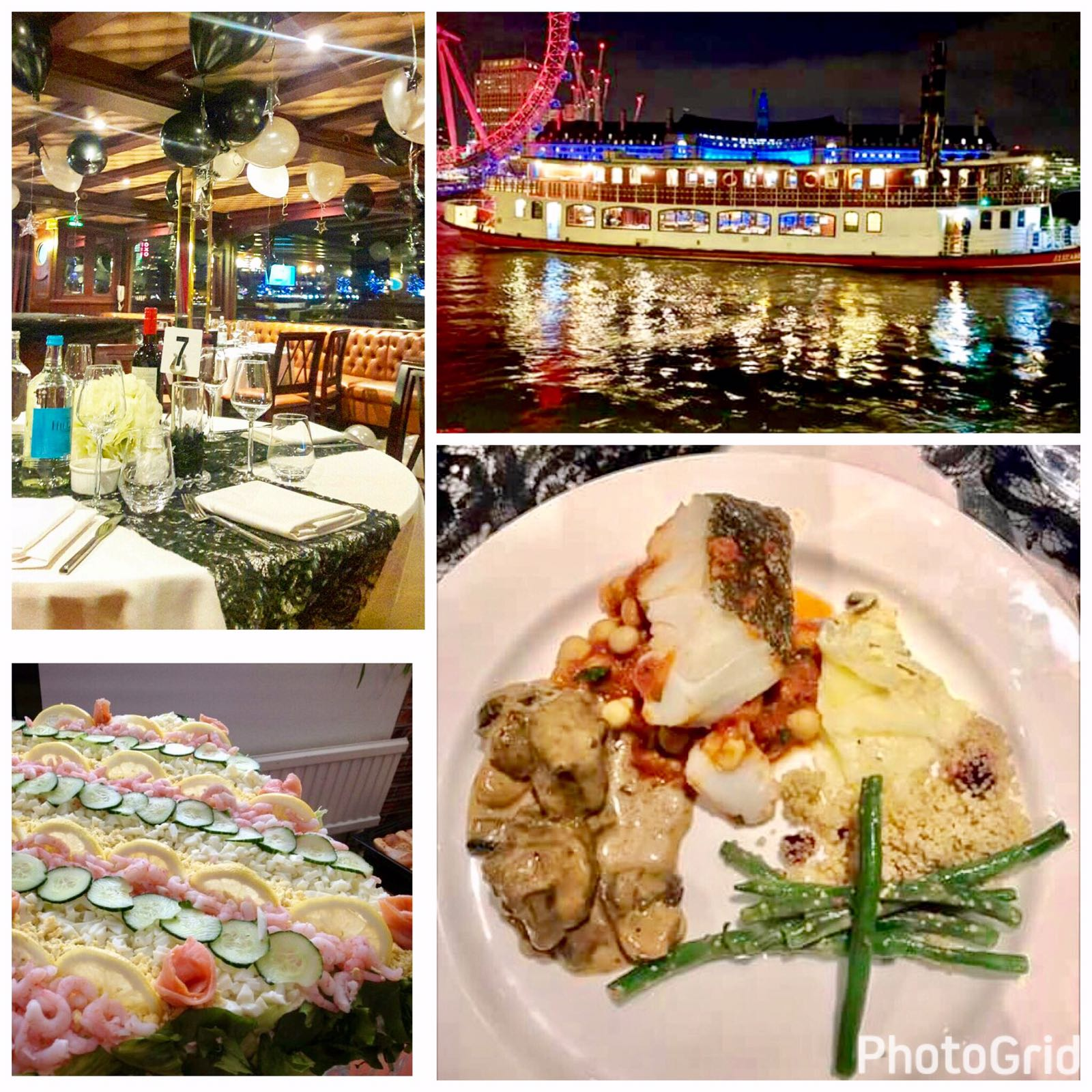 Continental Buffet Dinner- The Elizabethan, Thames Luxury Charters, London