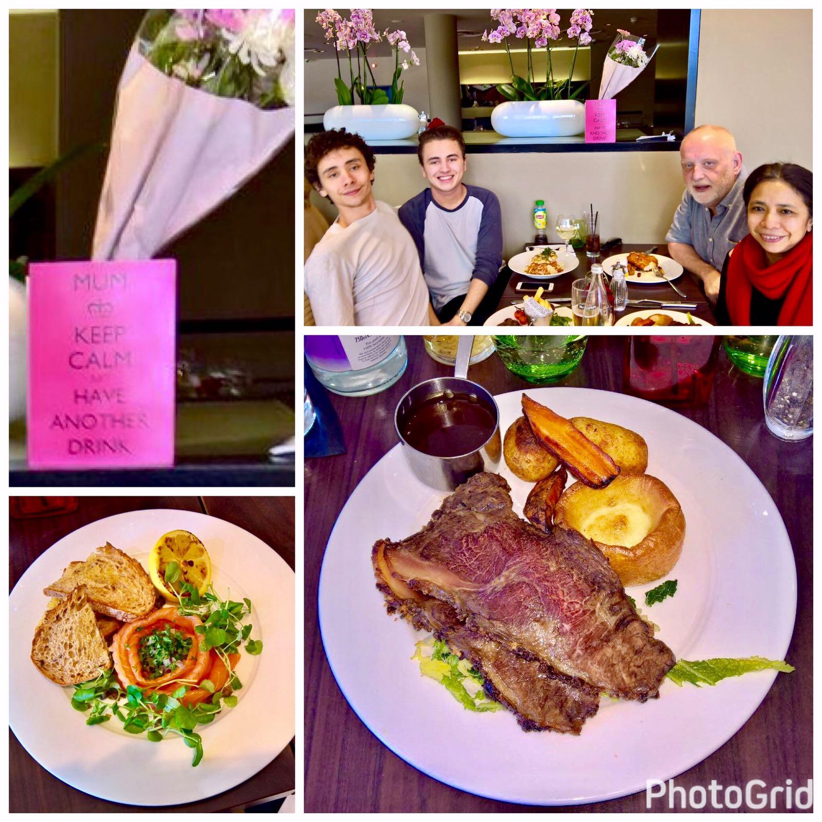 Mother's Day Sunday Roast- Brasserie, Tower Hotel, London