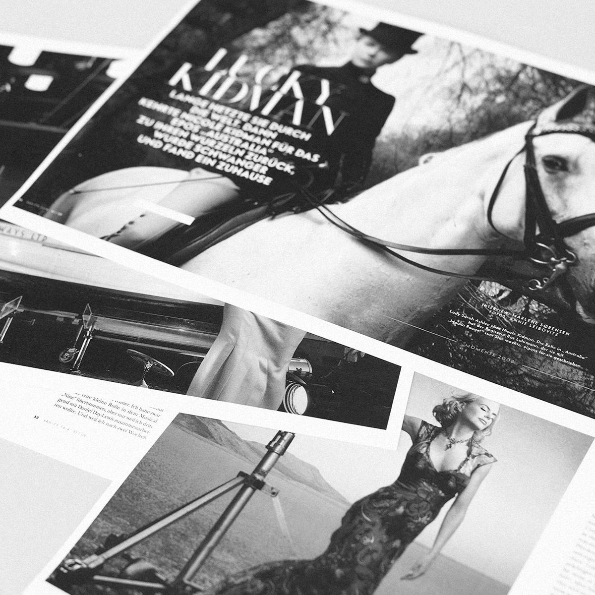 """""""Ich muss mir immer wieder beweisen, wie tough ich bin."""" - INTERVIEWMit Nicole Kidman,erschienen in Vanity Fair"""