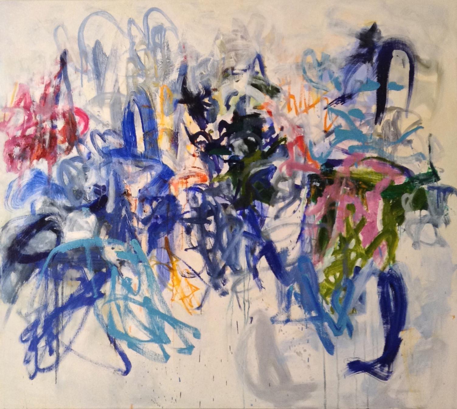 LOBELIA 48 x 54 oil on canvas SOLD