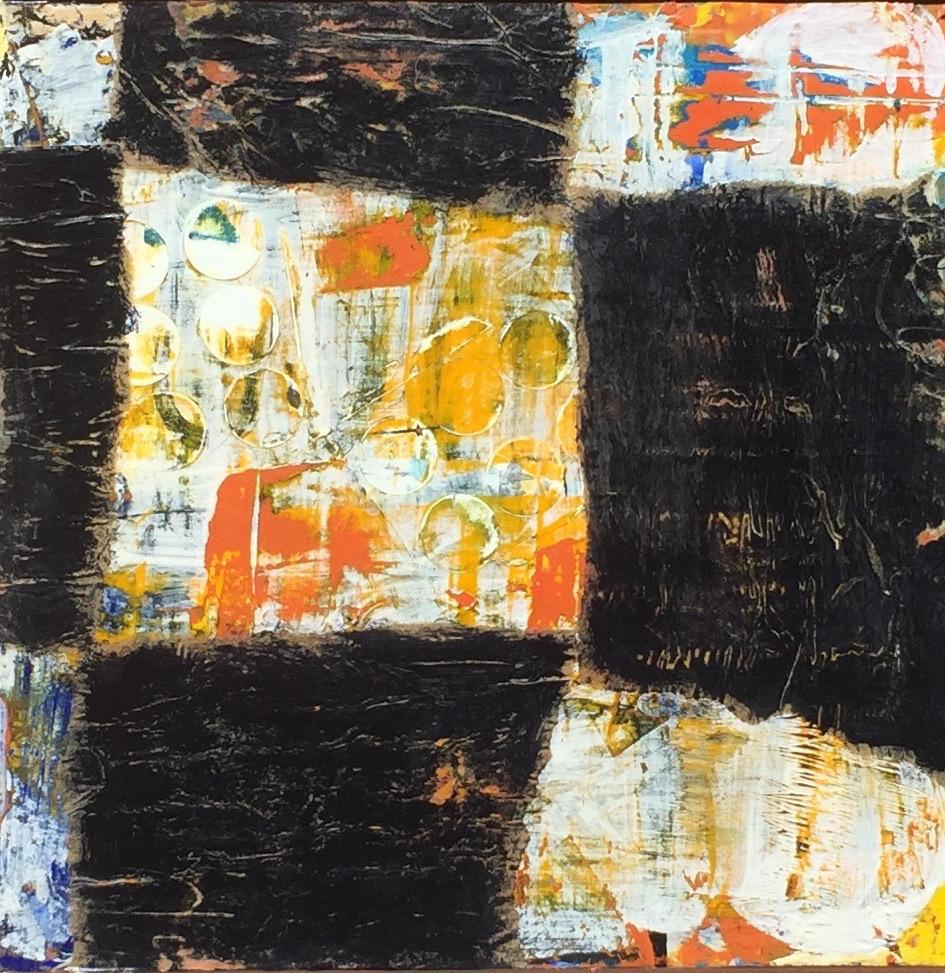 WABI SABI 12 x 12 mixed media on wood panel SOLD