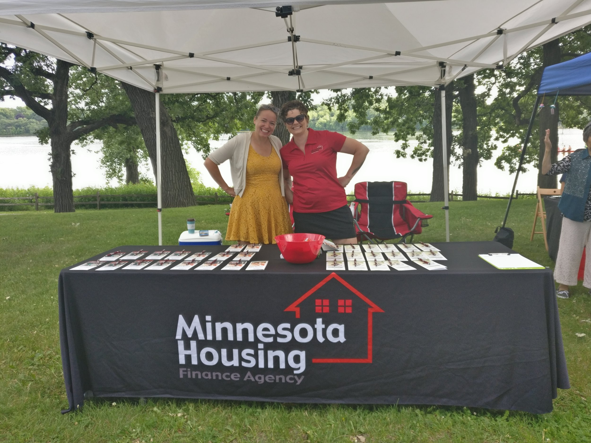 Talking about affordable home ownership with Minnesota Housing at the Dragon Boat Festival