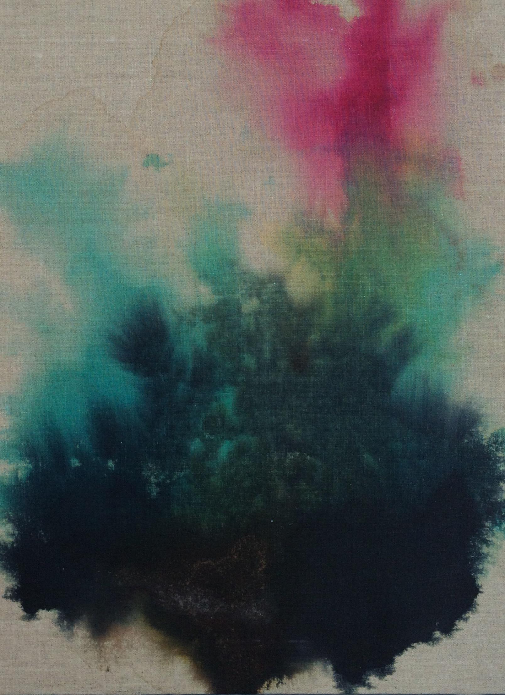 Dye on unprimed canvas 18X24 Buy $250 Rent $80 week