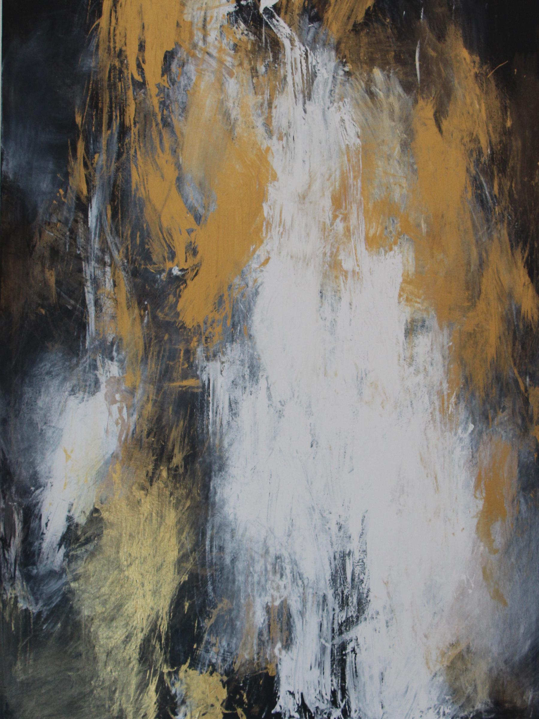 Acrylic and metallic paint on canvas 36 X 48 Buy $500 Rent per week $150