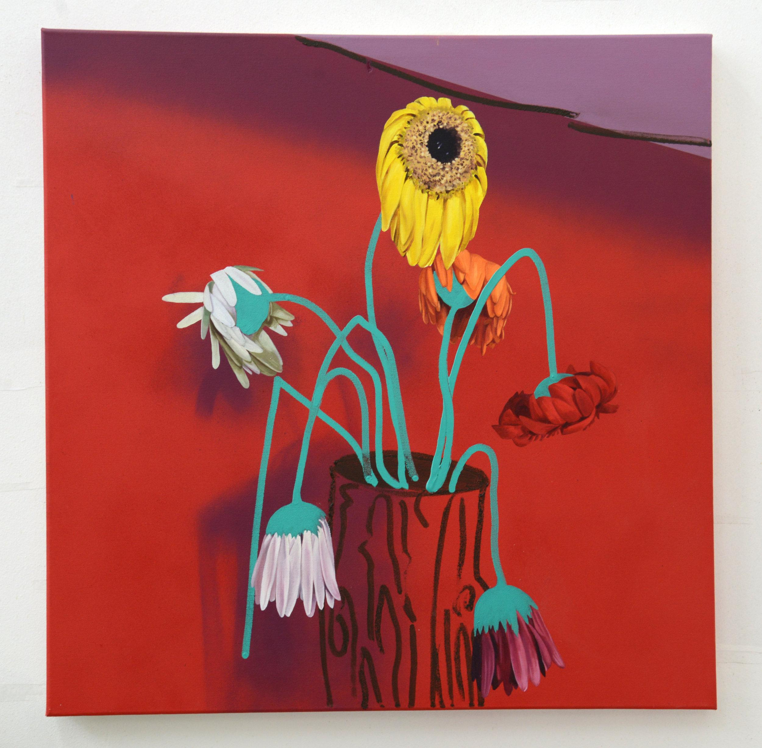 Joachim, 2016, oil, acrylic and spray paint on canvas, 76cm x 76cm