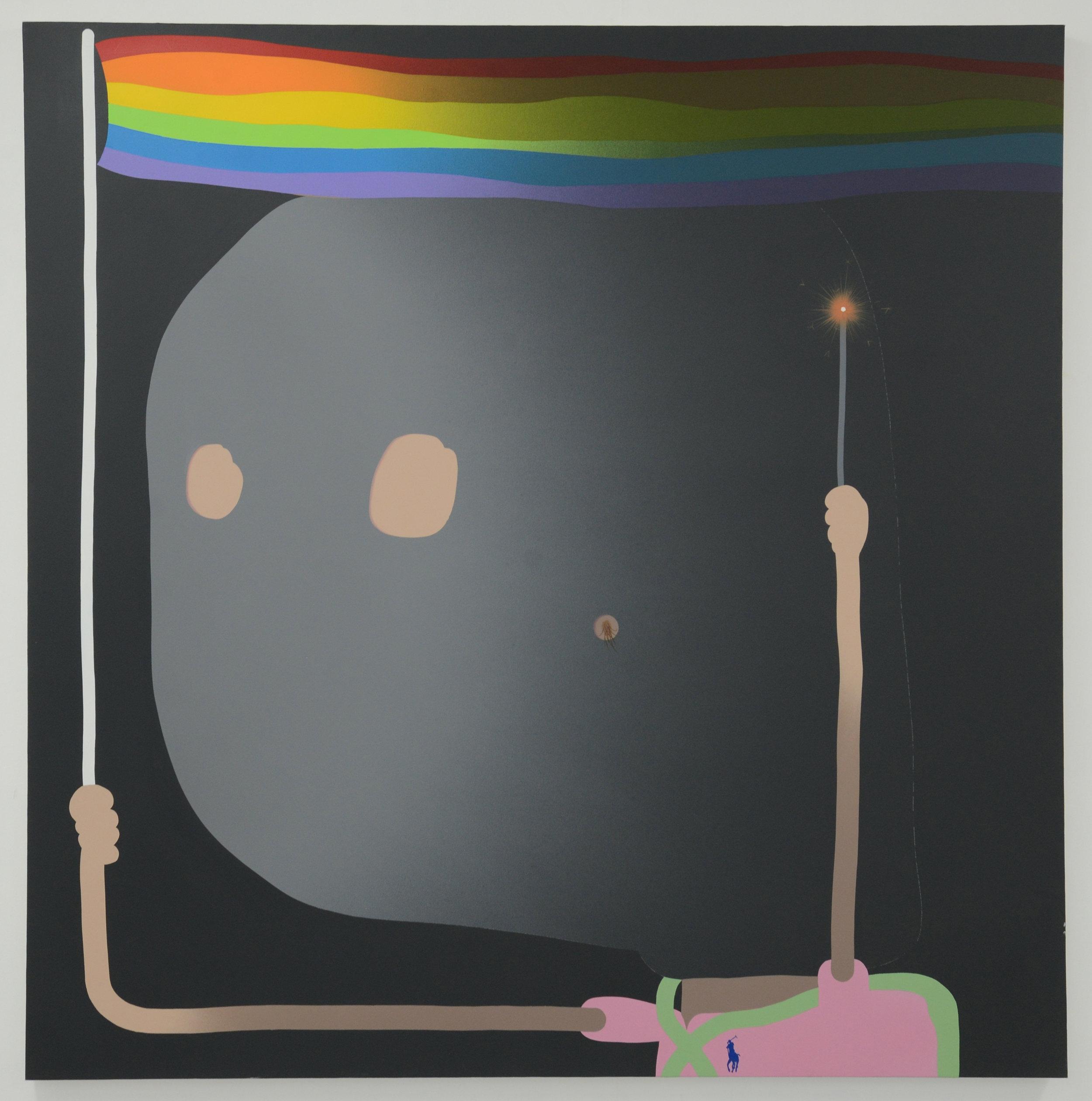 Pride, 2017, acrylic and spray paint on canvas, 120cm x 120cm