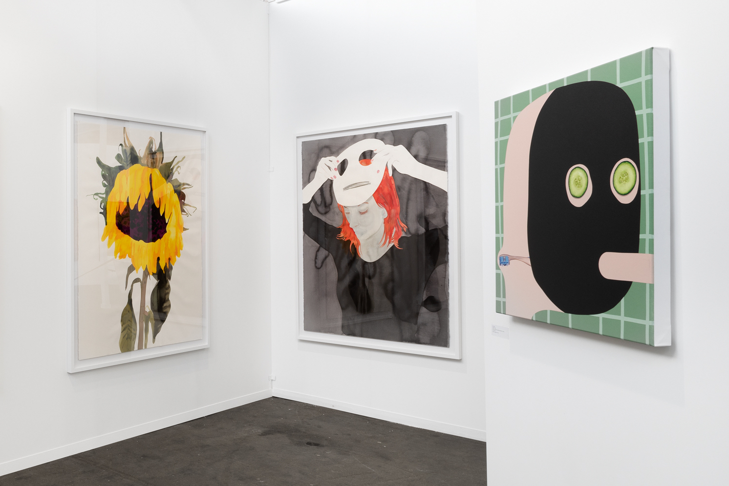 Art Brussels, Semiose Galerie, paintings by Francoise Petrovitch and Oli Epp