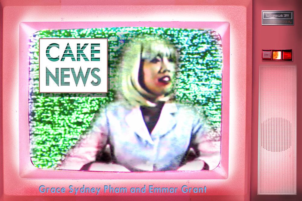 Exhibition postcard Cake News