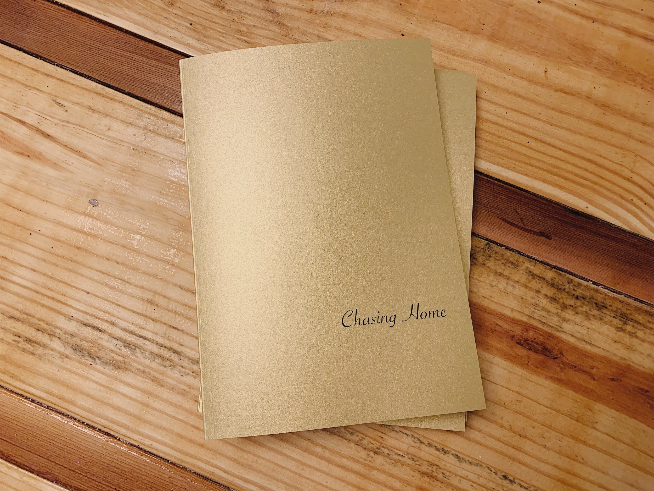 Chasing Home Book, 7x10 Softcover, 48 pg.