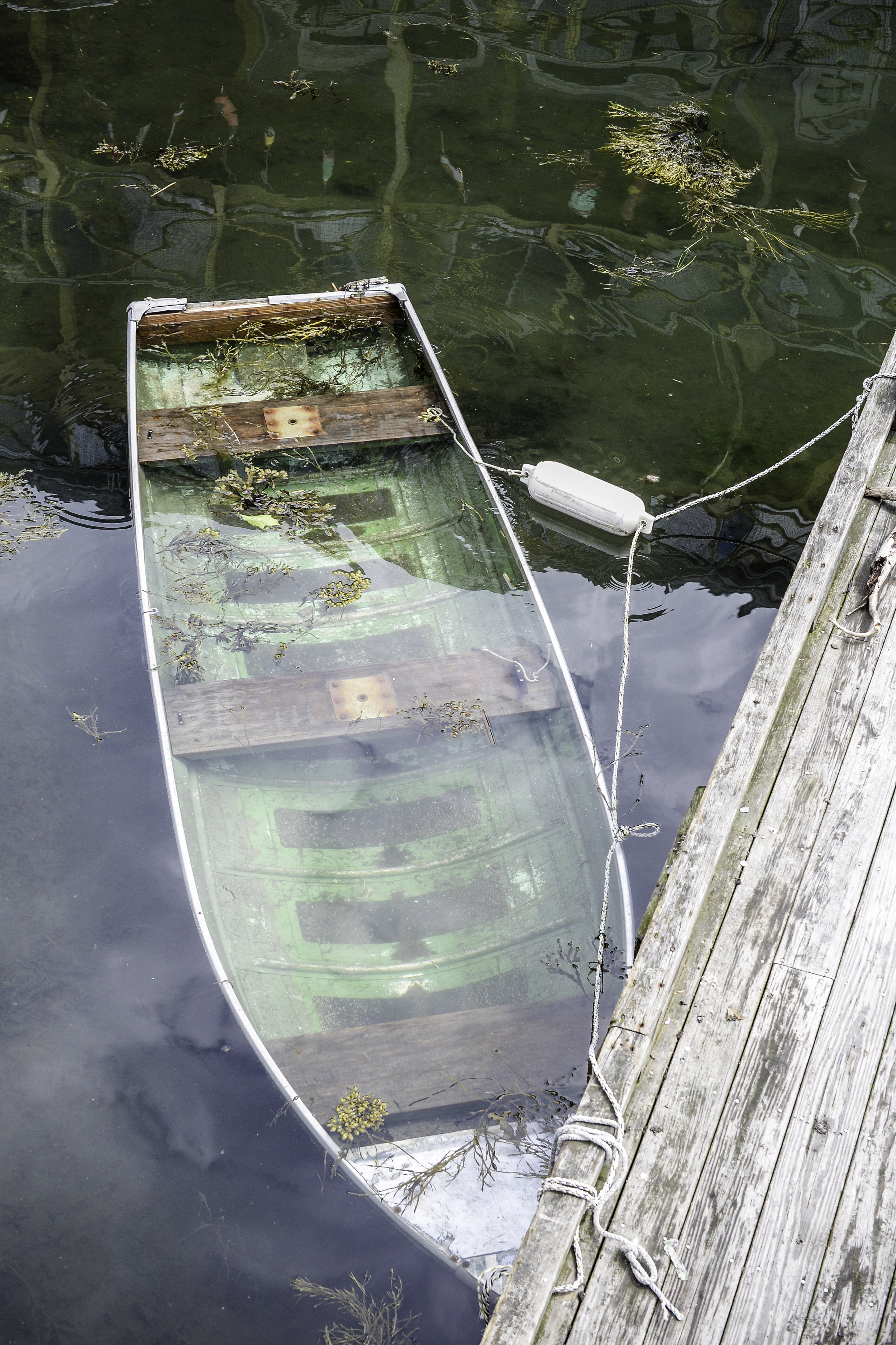 Boat in the water Boothbay Harbor Maine
