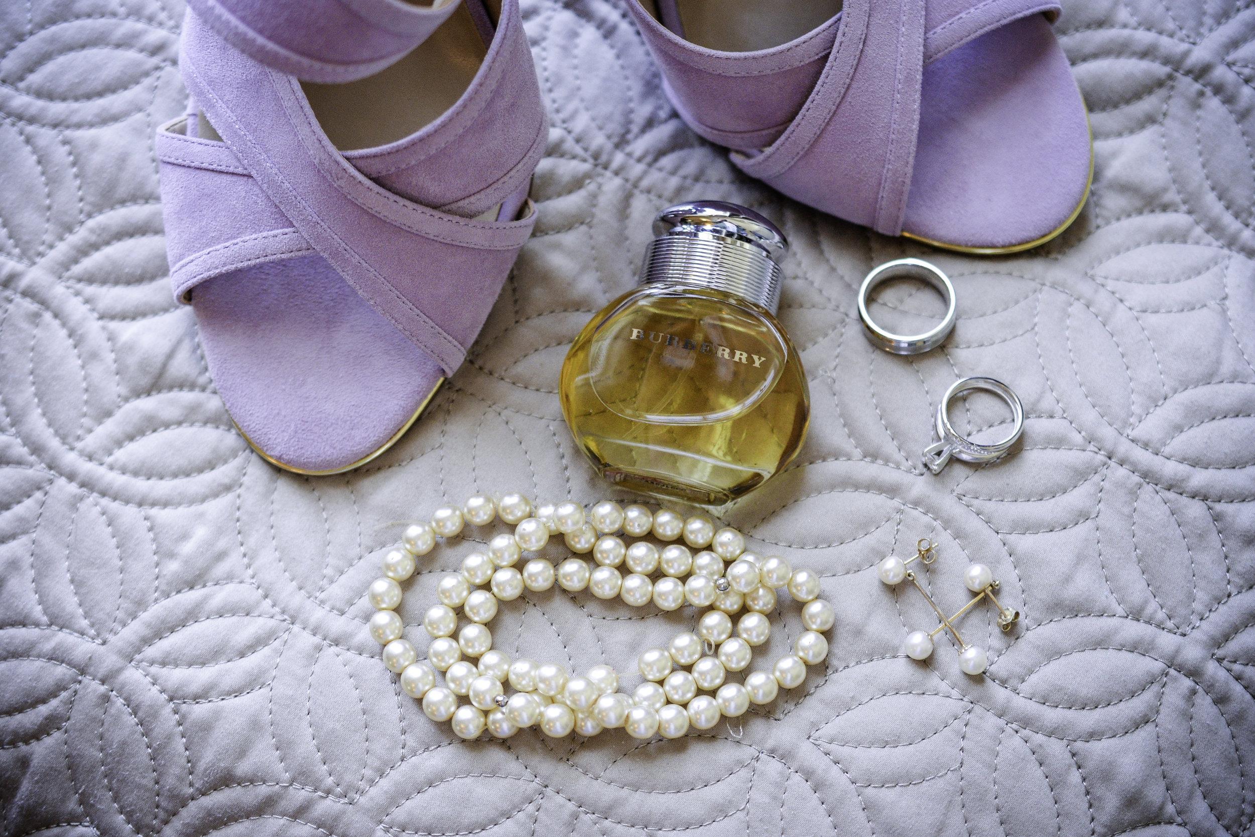 York Beach Maine Wedding.  Details.  Shoes Jewelry Wedding Rings  Burberry Perfume