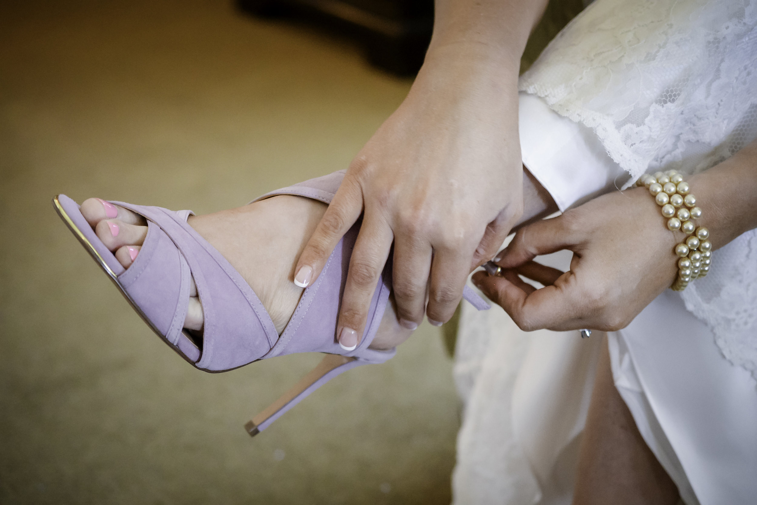 York Beach Maine Wedding Bride Getting Ready  Wedding Shoes