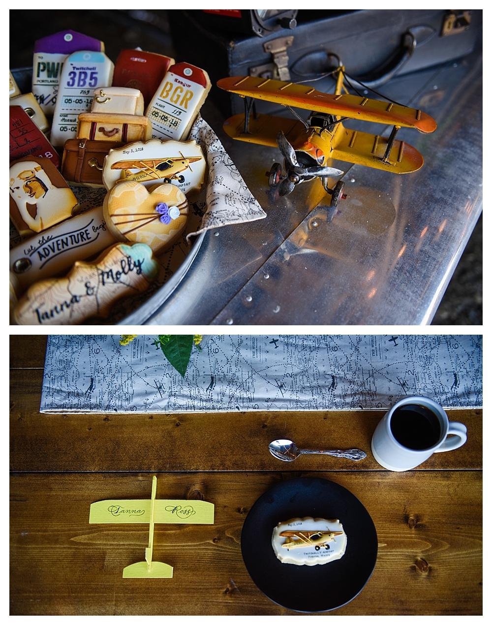Amelia Earhart Vintage Hangar Wedding Wedding Cookies Danys Cakes .jpg