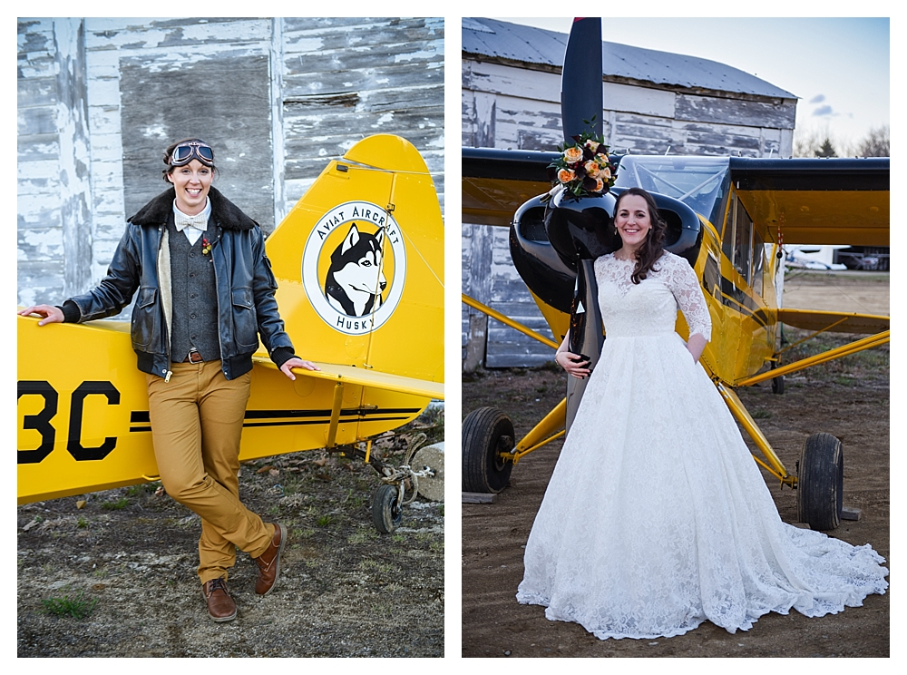 Amelia Earhart Vintage Hangar Wedding Two Brides Portraits.jpg