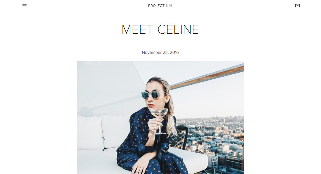 """""""Meet Céline"""" - Project NM"""