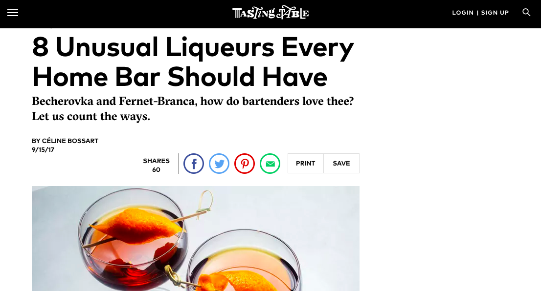 """8 Unusual Liqueurs Every Home Bar Should Have"" - Tasting Table"