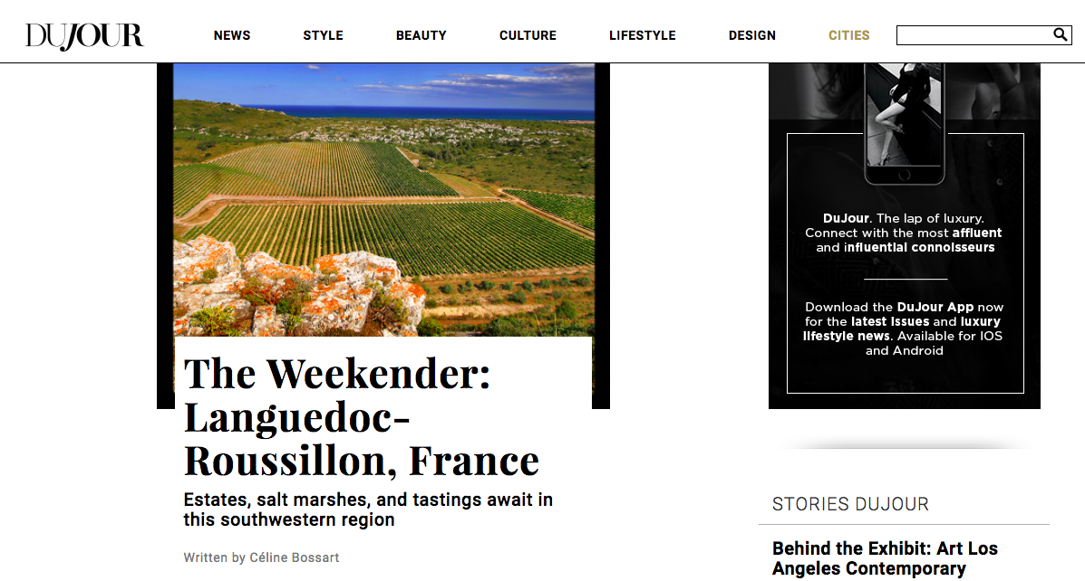 """The Weekender: Languedoc-Roussillon, France"" - DuJour Magazine"