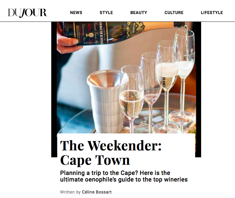 """The Weekender: Cape Town"" - DuJour Magazine"