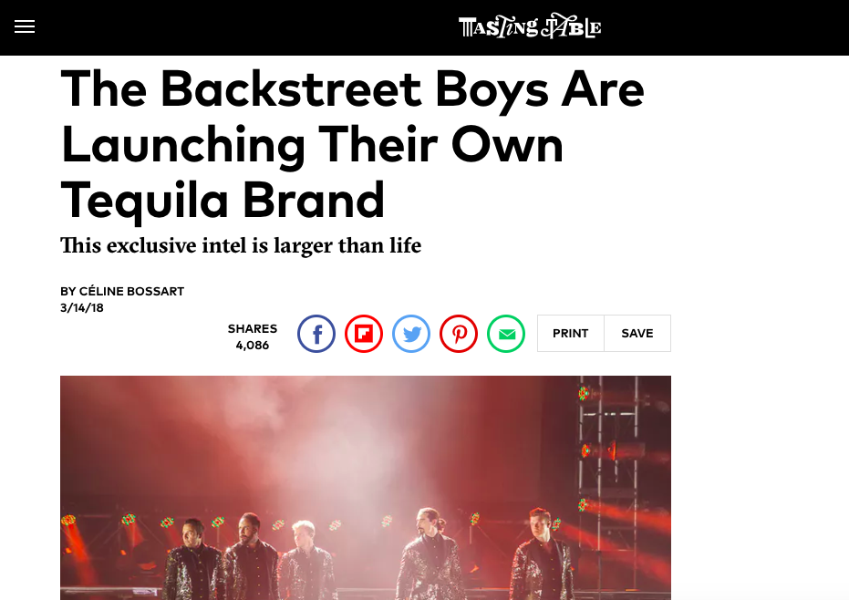 "EXCLUSIVE INTERVIEW: ""The Backstreet Boys are Launching Their Own Tequila Brand"" - Tasting Table"
