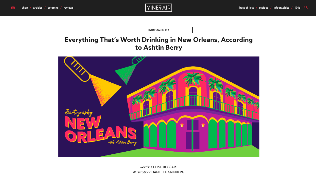 "COLUMN: ""Everything That's Worth Drinking in New Orleans, According to Ashtin Berry"" - VinePair"