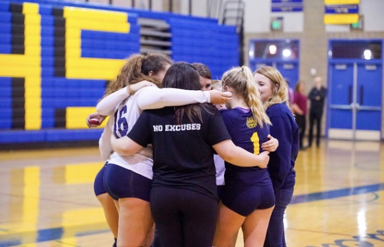 final huddle with my seniors