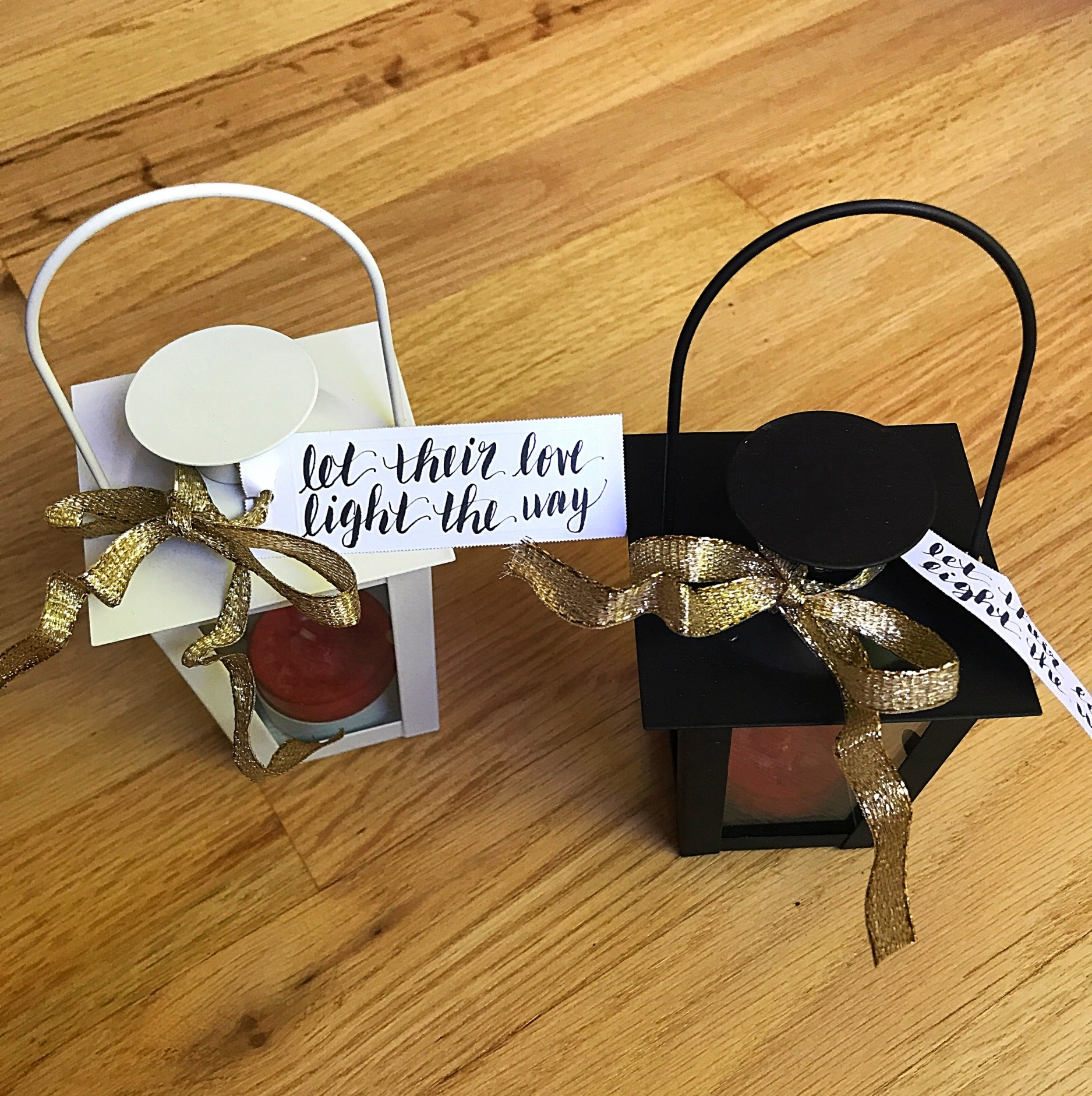 My best friend and bridesmaid, Liza, couldn't attend the shower, but she contributed in the sweetest way. She hand-lettered the tags for the favors and they were perfect!