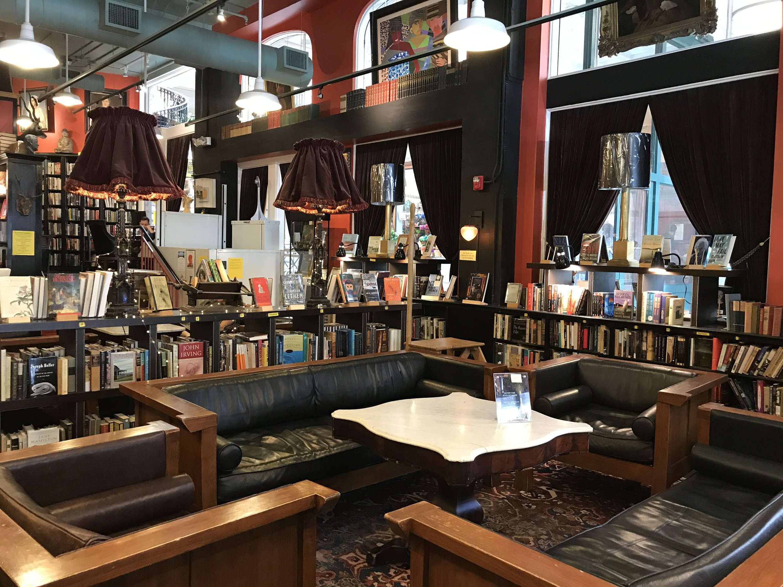 My favorite find -- the Battery Park Book Exchange & Champagne Bar
