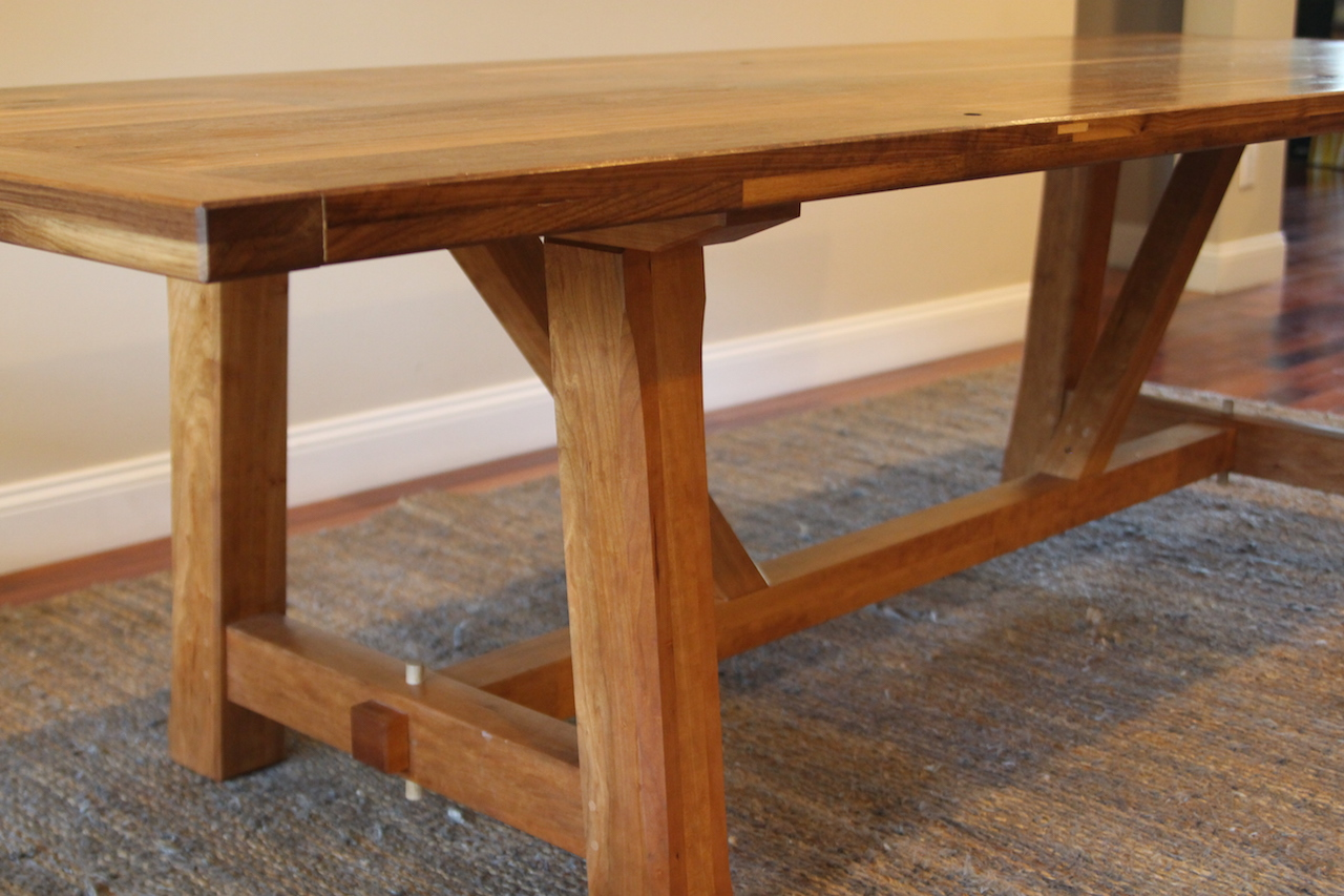 Detail of joinery on the Dining table.
