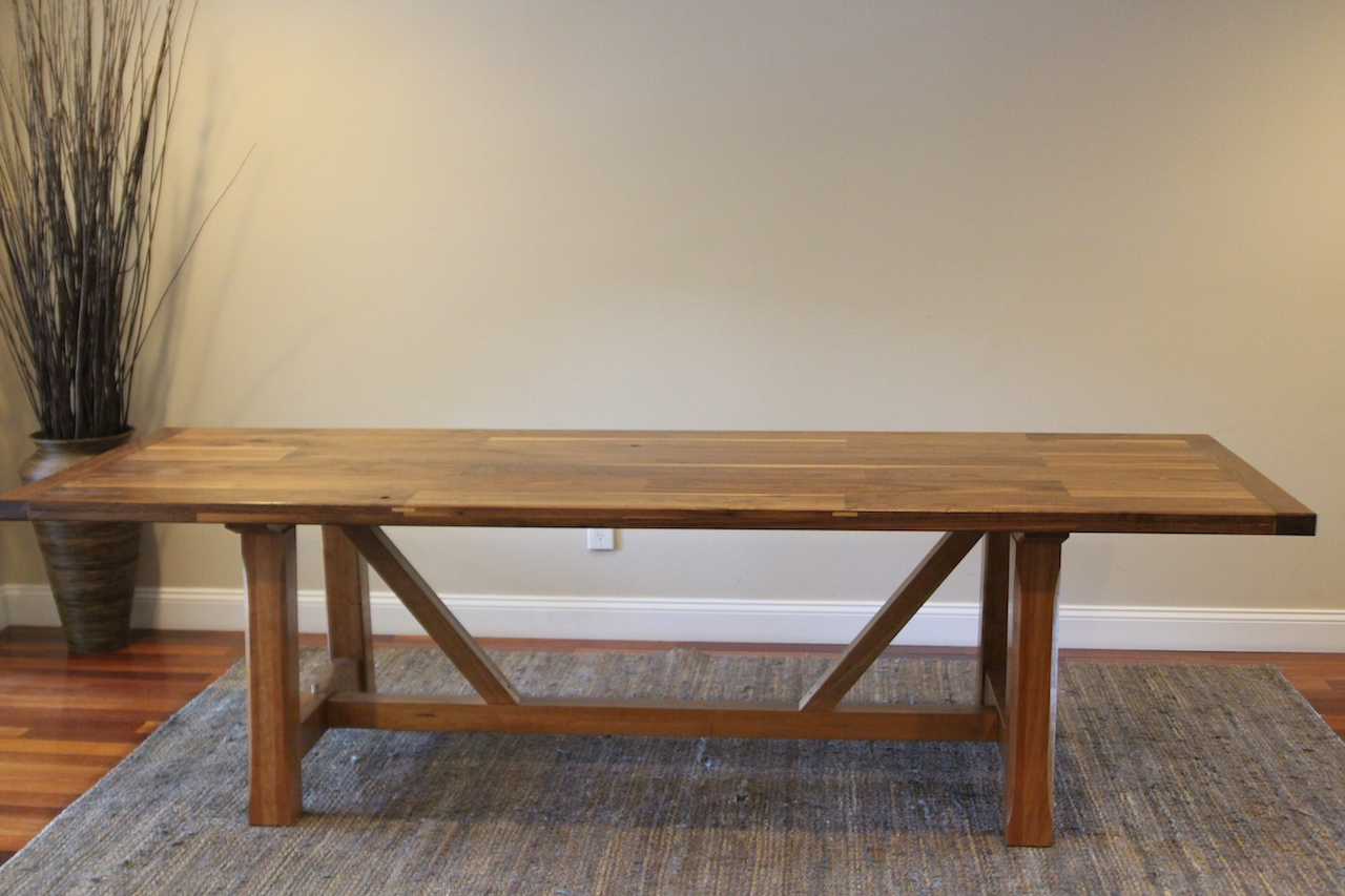 Dining table side view.