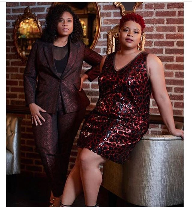 @eloquii  @aplustheartists @aneshaisaplus 📸 @philippe_rohdewald  #stylist @ginger.cuenca  #beauty @nataliabbeauty Help from @mideyahparkerhair  #sisters #singers #songwriters #grammynominated  #plussize #fashion  #styleandsubstance