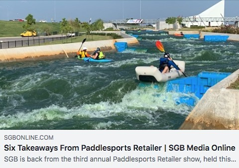 PSR in the news. What a show! See story link in bio or visit sgbonline.com/6-takeaways-from-paddlesports-retailer/