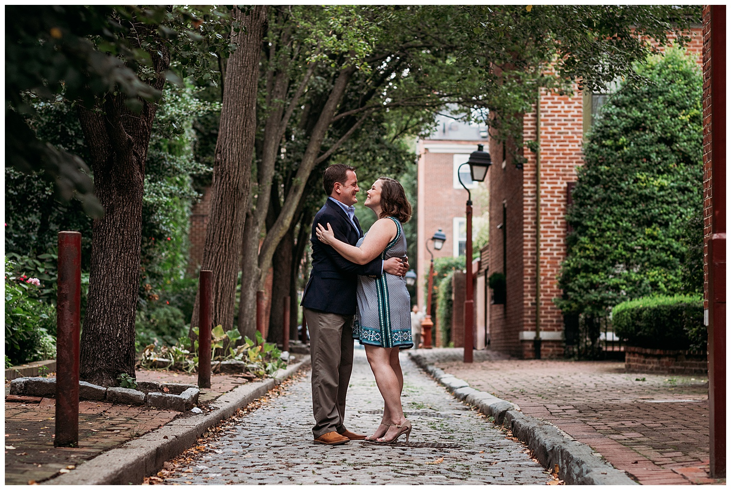 Old City Philadelphia Engagement Photography